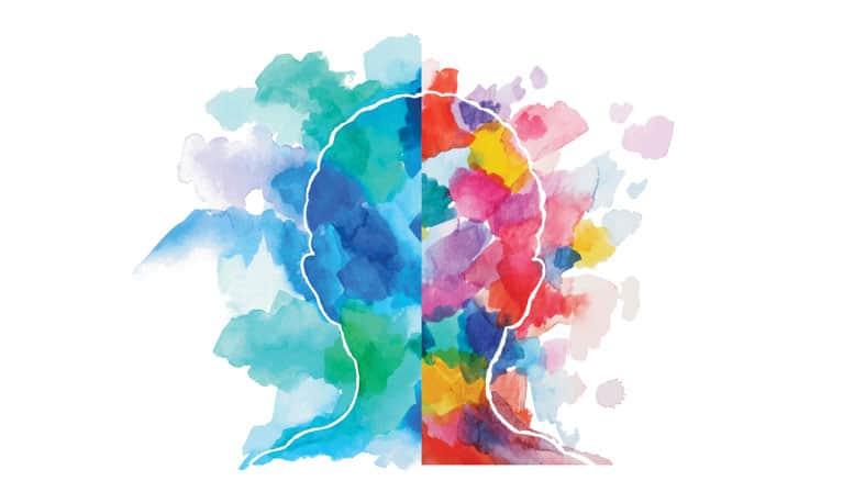 Bipolar disorder healing process painting